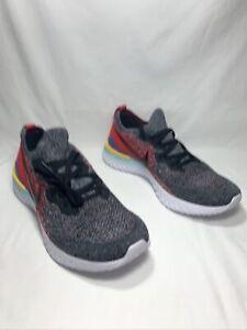 "Nike Epic React Flyknit 2 ""Black University Red"" Men's Size 13 BQ8928 007"