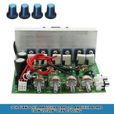 3CH Subwoofer Amplifier Board 2.1 Amplifier Board 100W*2+120W*1 Fan Cooling CY