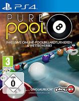 Pure Pool (Sony PlayStation 4, 2014, DVD-Box) Wie Neu Top USk 16