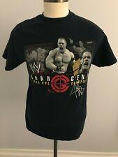 "John Cena ""2006 WWE Champion"" T-Shirt - Black - SZ: M - WWF Wrestling -Back Logo"