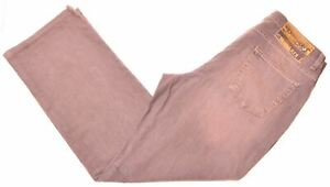 TRUSSARDI Womens Jeans W33 L30 Orange Cotton Straight KV02
