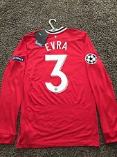 MANCHESTER UNITED 11/12 HOME CHAMPION LEAGUE LONG SLEEVES SHIRT NEW(S) 3 EVRA