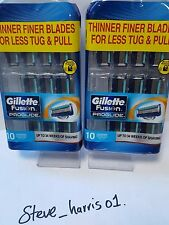 GILLETTE FUSION PROGLIDE 10 PACK 100% GENUINE BRAND NEW 2 PACKS TOTAL 20 BLADES!