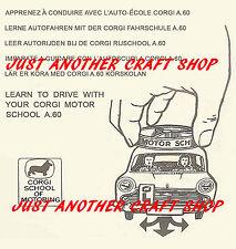 Corgi Toys 255 Austin A60 Motor School Instruction Leaflet USA version of 236