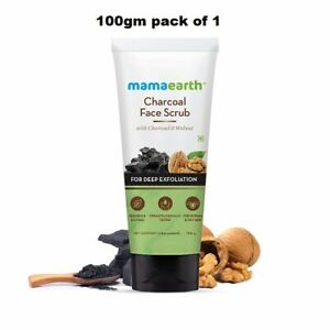 Mamaearth Charcoal Face Scrub for Oily and Normal skin,with Charcoal (100g)