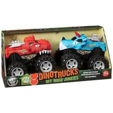 Dino Trucks Off Road Junkies Monster Power With Monster Lights 4x4 Madness 2pk.