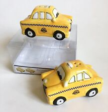New American Atelier New York City Yellow Taxi Cabs Ceramic Salt Pepper Shakers