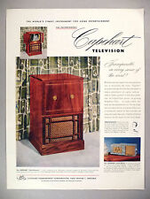 "Capehart-Farnsworth ""Charleston"" PRINT AD - 1951 ~ Television, Phonograph, Radio"