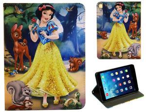 Pad Air 1-2 - iPad 9.7 & Pro - Snow White and 7 Dwarfs Disney Cartoon Case Cover