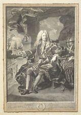 P.DREVET 1663-1738 GRAND PORTRAIT SAMUEL BERNARD BANQUIER D'APRÈS RIGAUD 1729