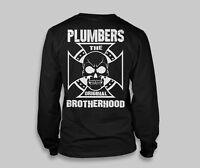 Union Plumbers LONG SLEEVE shirt Union Skull Union Supporter CROSS Plumber shirt