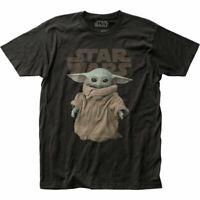 The Mandalorian The Child T Shirt Mens Licensed Star Wars Movie Baby Yoda Black