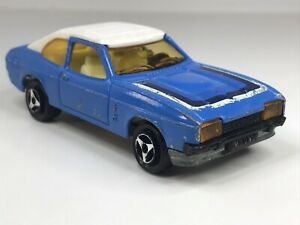 Vintage Majorette France Ford Capri Blue & White Loose