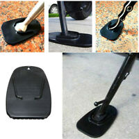 Scooter Support Stand Side Bracket Sustain Plate Motorcycle Kickstand Pad Black
