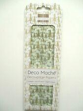 First Edition Deco Mache Decoupage Papers - Golden Trees - Christmas Decopatch