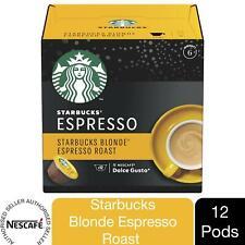 Nescafe Dolce Gusto Starbucks Coffee Pods Caps Box of 12 Blond Espresso Roast