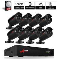 1080P 2MP CCTV AHD Security Camera System Outdoor CCTV 1080N DVR Kit Set IP66 2T