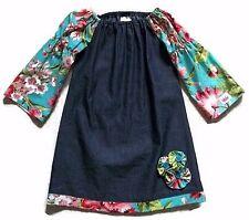 Posh Principessa Chambray/Floral Dress-Girls-Sz 3 Excellent!
