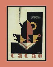 """A 10"""" x 8"""" Art Deco Print-caffè-Cacao"""
