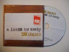 ZAK LAUGHED : A LETTER FOR EMILY [CD SINGLE PORT GRATUIT]