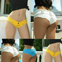 Women's summer hot shorts mini short jeans denim pants low waisted casual pants