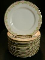 "Antique Set of 12 Tirschenreuth 2753 Rosedale China 8.63"" Luncheon Plates Excell"