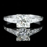 ANTIQUE ART DECO DIAMOND ENGAGEMENT RING SOLITAIRE CIRCA 1920