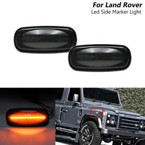 For Land Rover Defender Discovery 2 LR2 Freelander Smoked Led Side Marker Lights