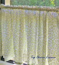 Home Kitchen Country Green Leaves Cotton Window Cafe Curtain/Valance