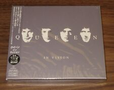 Still SEALED! QUEEN Japan only PROMO issue CD IN VISION Freddie Mercury BOOKLET