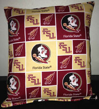Florida State University Pillow Football Pillow FSU Pillow NCAA HANDMADE In USA