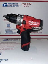 Milwaukee 2504 20 M12 Fuel 12in Hammer Drill With Milwaukee Cp 15 Battery Used