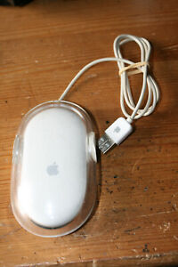 Vintage Apple Pro Optical Mouse - Model: M5769 - USB Wired - Clear/White
