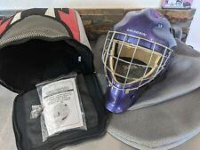 Vaughn Senior Adult Small Ice Hockey Goalie Face Mask Kings Purple Helmet