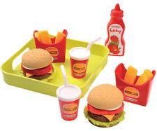 Ecoiffier Hamburger Set mit Tablett für Kinderküche Spiellebensmittel Küche NEU
