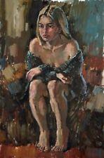 Break  nude  by artist Sergey AVDEEV RUSSIAN Original oil Painting