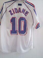 Francia 1998-1999 lejos Zidane 10 Away Camiseta De Fútbol Talla Grande/41640