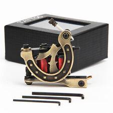 Iron Frame 10 Wraps 28mm Copper Wire Coils Tattoo Machine Gun Shader Golden