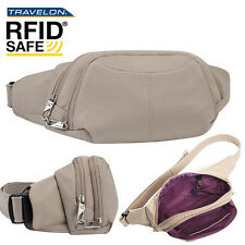 unisex Waist Pack  RFID-Blocking belly pack slash-proof w/ Anti-Theft bag Khaki
