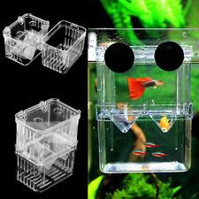 Aquarium Fish Tank Breeding Breeder Rearing Trap Clear Box Hatchery Case Useful