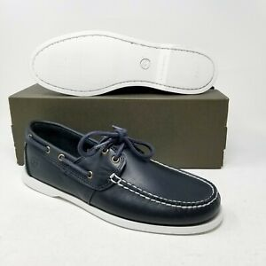 Timberland Classic Cedar Bay Boat Shoe Navy Blue White Sole TB0A199P 410 Casual
