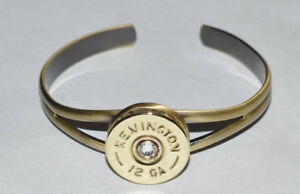 Remington 12 Gauge Shotgun Shell  Cuff Bracelet Antique Bronze Trap Shooting