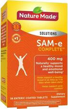 Nature Made SAM-e Complete 400 mg Tablets, 36 Count EXP-09/2020