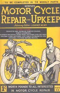 Motorcycle Repair and Upkeep 1930 Part 5-9 Book Norton Sunbeam Velocette OHC