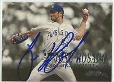 JOSE ROSADO Autographed Signed 2000 Skybox Dominion card Kansas City Royals COA
