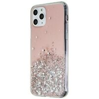 Fashion Gel Case for Apple iPhone 11 Pro Smartphones - Clear/Pink Tint/Glitter