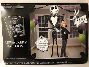 "Gaint Jack Skellington 3D Airwalker 80"" Jumbo Foil Balloon Party Supplies 7 Feet"