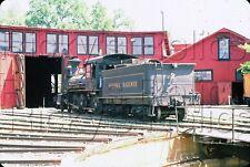 Original Slide Sierra Railway #3 4-6-0 ROUNDHOUSE Jamestown, CA 1986