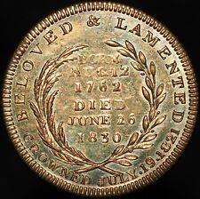 More details for george iv 'beloved & lamented' medal | medals | km coins