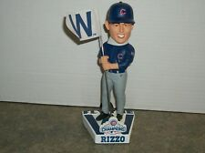 CHICAGO CUBS A. RIZZO BOBBLEHEAD WITH W FLAG